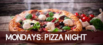 Half Off Pizza Nights on Monday!